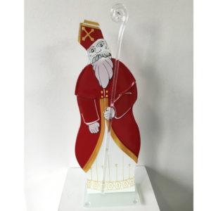 Saint nicolas en verre signé Emmanuel Perrin