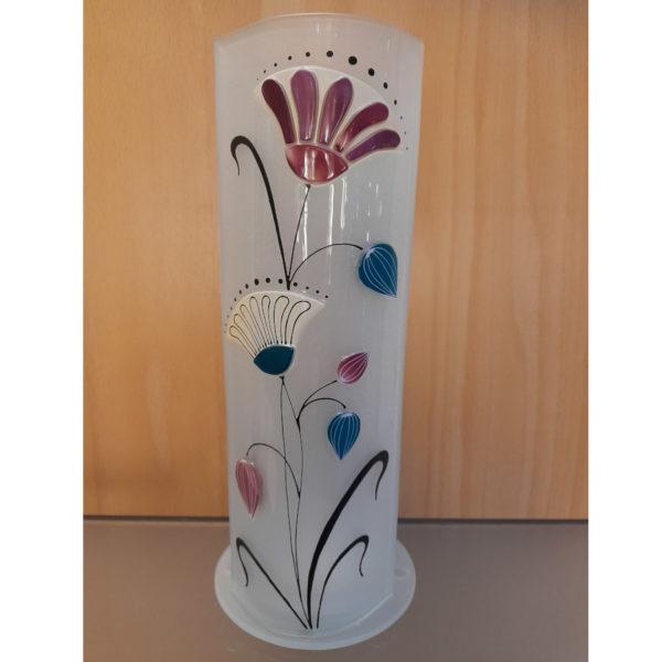 vase en verre photophore style art deco