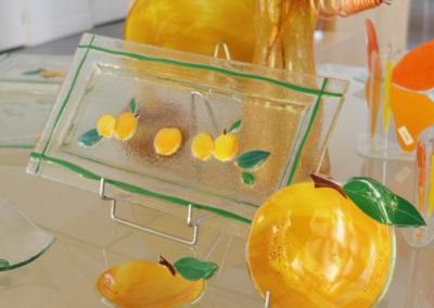 mirabelle plat cake coupelle glace en verre