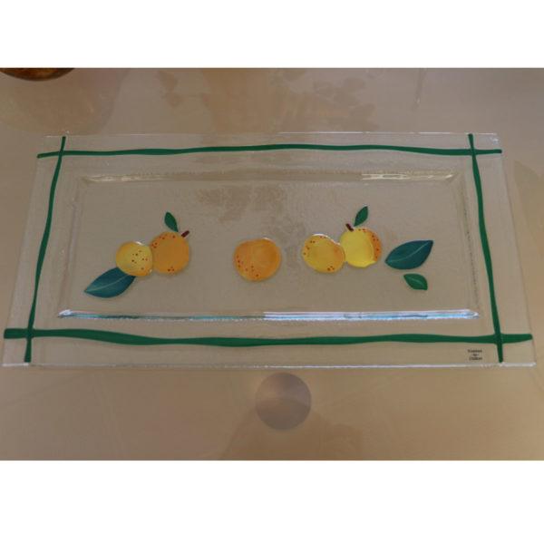 mirabelle plat cake en verre