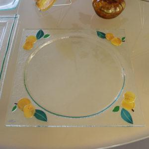 mirabelle plat tarte en verre