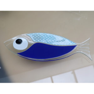 coupelle poisson en verre bleu collection paques