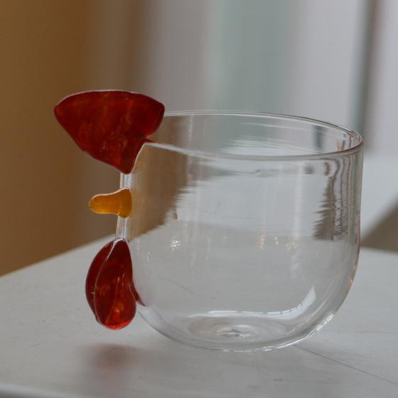 gobelet poule en verre collection paques