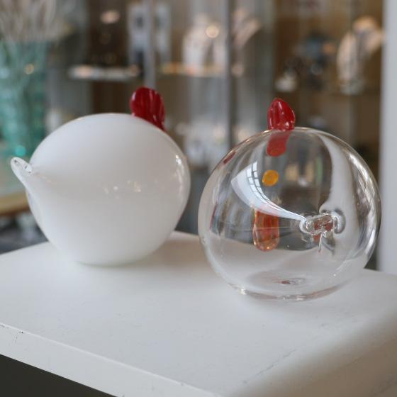 poule en verre soufflé decoration pour pâques