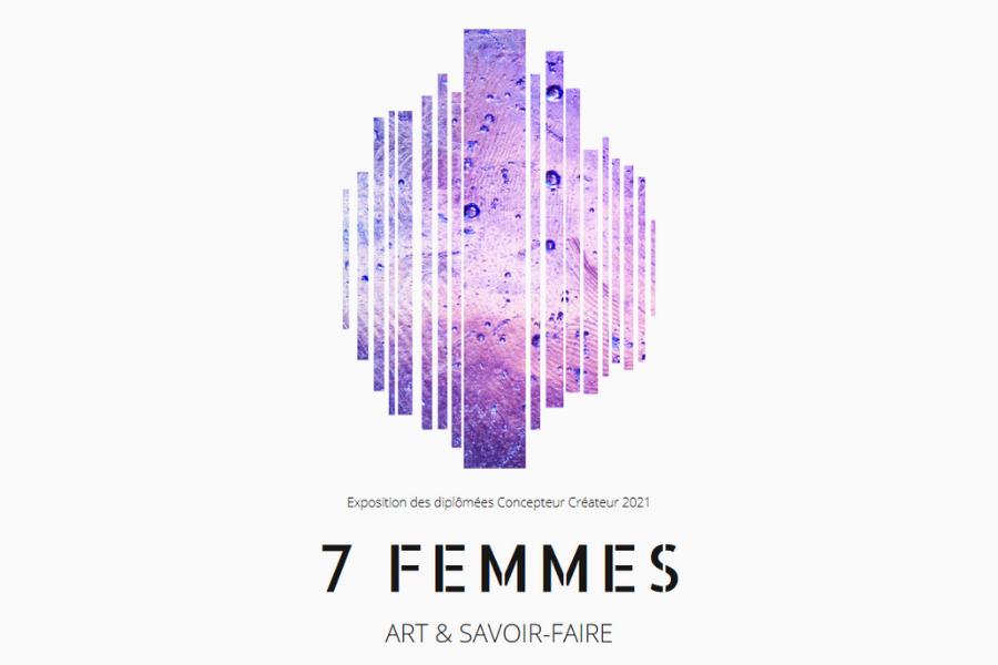 Dévernissage de l'expo 7 femmes :  exposition des diplomées Concepteur Créateur et du GIP
