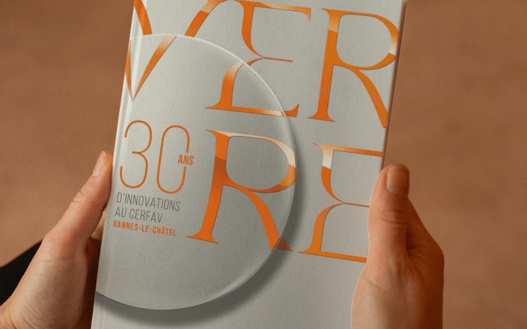 Livre : Verre, 30 ans d'innovations au Cerfav PROMO